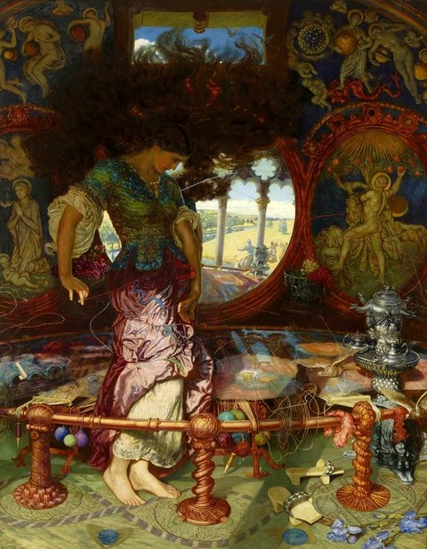 William Holman Hunt's The Lady of Shalott (1905)