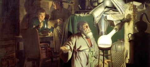 Joseph Wright of Derby  1771 リンの発見 -
