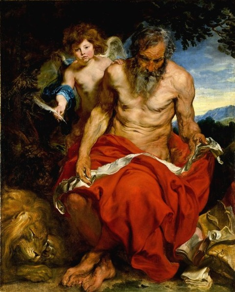 Saint jerome   Anthony van Dyck