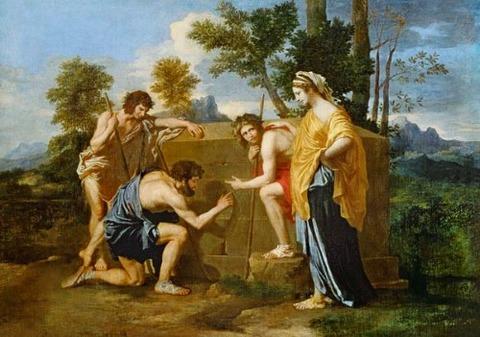 Nicolas Poussin, Shepherds of Arcadia 1637