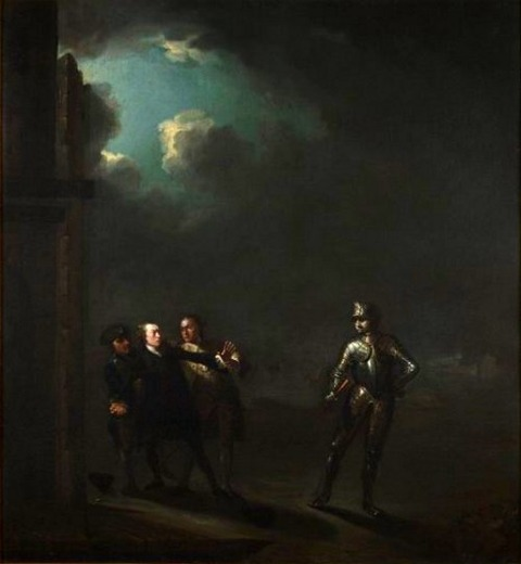 Benjamin Wilson, William Powell as Hamlet  1768–69