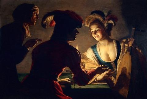 Gerrit van Honthorst 1625 仲人