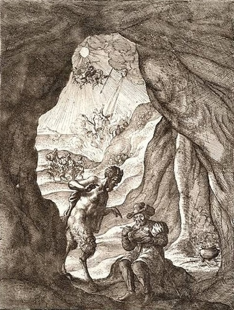 Wenceslas Hollar Satyr and Traveller John Ogilby's 1660