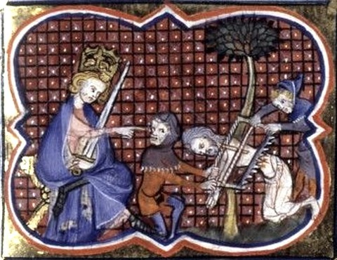 The martyrdom of Isaiah in a Bible historiale  14th