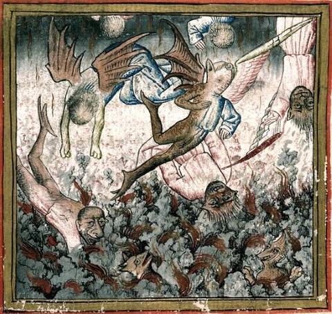 Georges Chastellain  1470 fallin angel