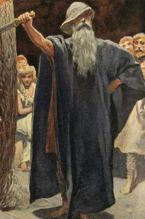 Odin in der Halle Wolsung by Emil Do epler