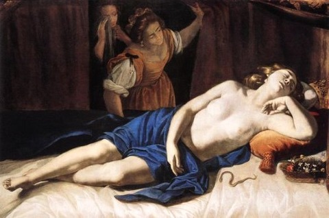 CLEOPATRA  ARTEMISIA GENTILESCHI 1630