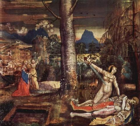 Pyramus and Thisbe, by Niklaus Manuel Deutsch 1515