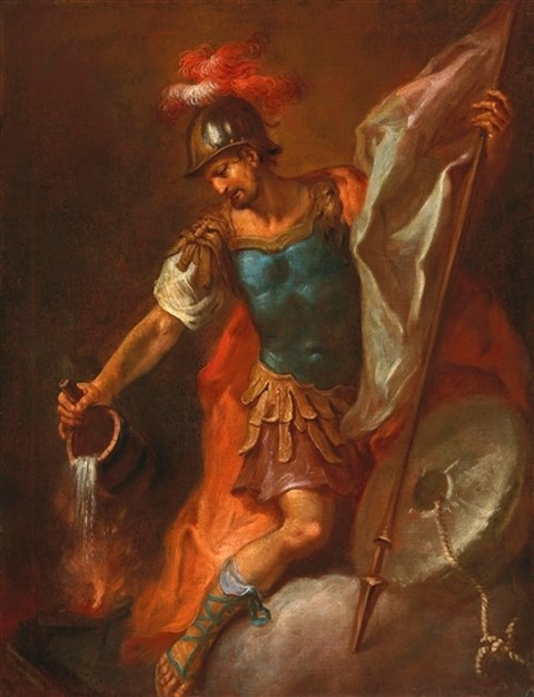 St Florian extinguishing a fire, 1786 Martin Johann Schmidt