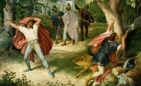 Siegfried's Death, by Julius Schnorr von Carolsfeld  1847