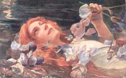 Ofelia di Gaston Bussiere, 1900