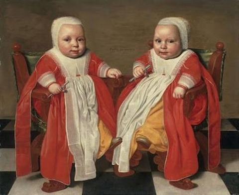 Portrait Twin Daughters 1630-40 Jacob Gerritsz Cuyp