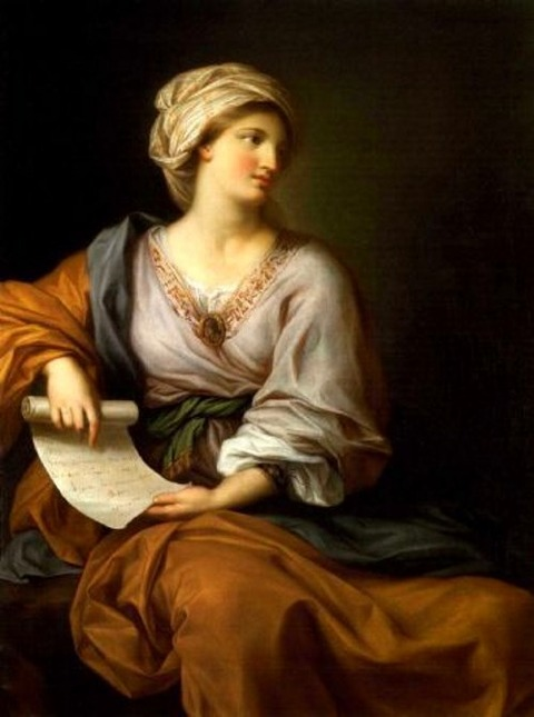 Gavin Hamilton Portrait of Emma Hamilton as a Sibyl 1723-98