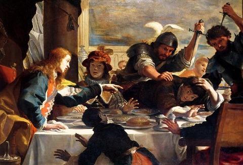 The Feast of Absalom  Mattia Preti
