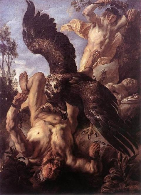 Jacob Jordaens Prometheus Bound (1640)