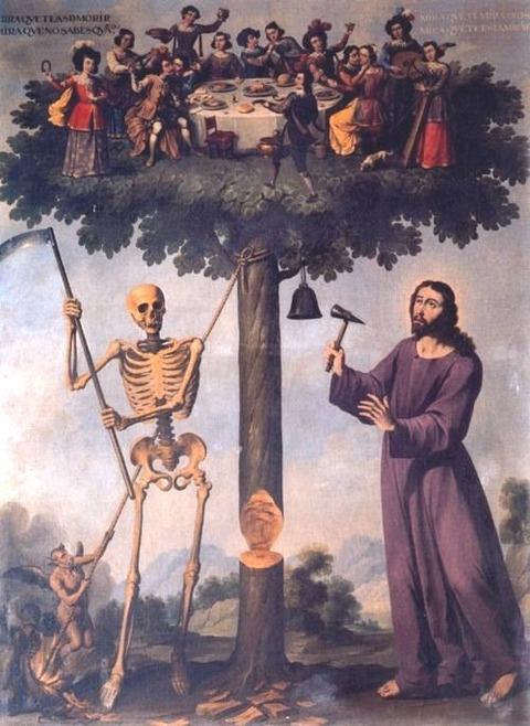 Ignacio de Ries, El Árbol de la Vida (detail), 1653