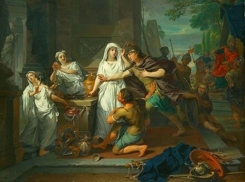 Nikolaas Verkolje  Orestes en Pylades in Tauris 1732