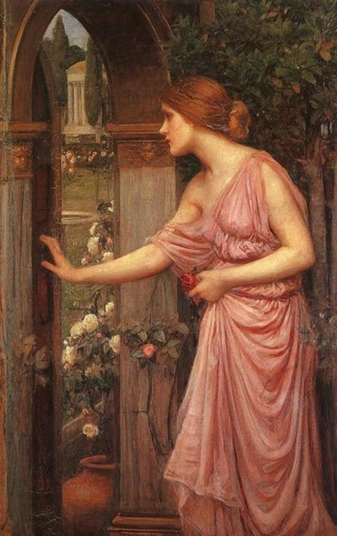 Psyche Entering Cupids Garden by William Waterhouse