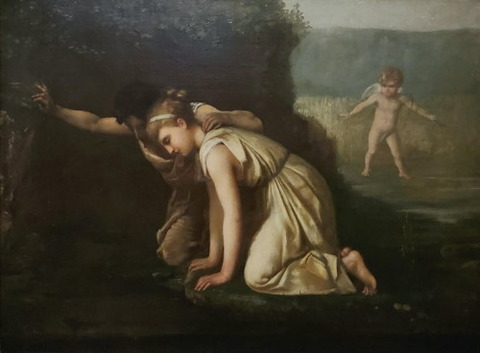 French School Echo and Narcissus Staring Into Narcissus