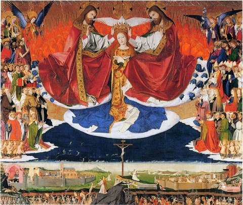 Enguerrand Charonton Coronation of Mary  1454