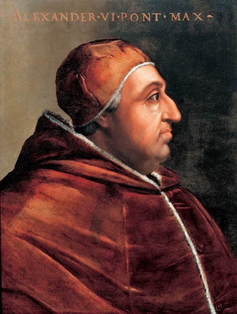 Pope_Alexander_Vi Cristofano dell'Altissimo 1525-1605