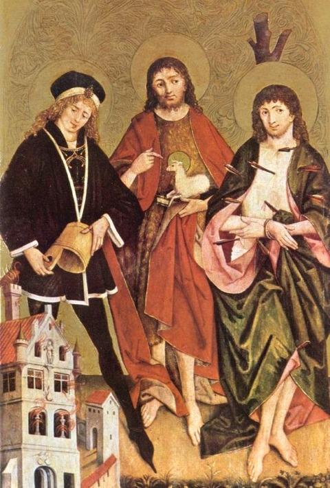 Hans Strigel Florian mit Johannes  und Sebastian 1480