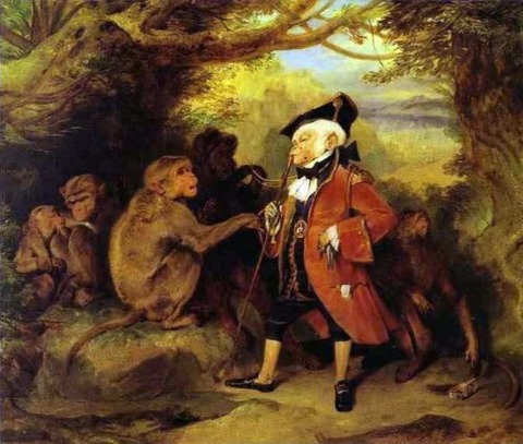 The Monkey Who Had Seen the World by Edwin Henry Landseer, 1827