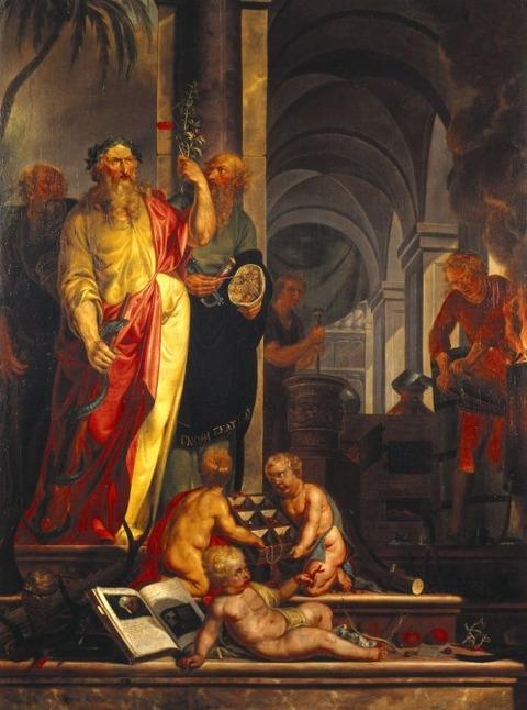 Johannes Zacharias Simon  Aesculapius Apollo  Hippocrates 1791