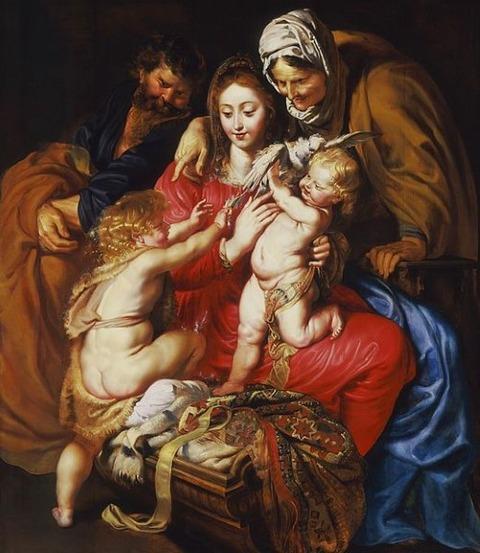 The Holy Family  St. Elizabeth St. John Peter Paul Rubens 1609