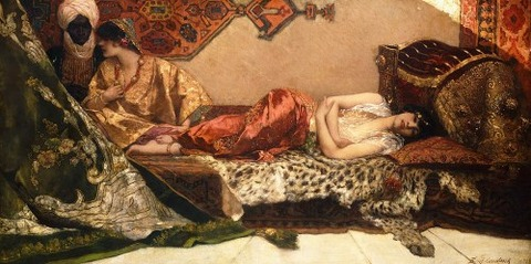 1882  - The Odalisque by Jean Joseph Benjamin Constant