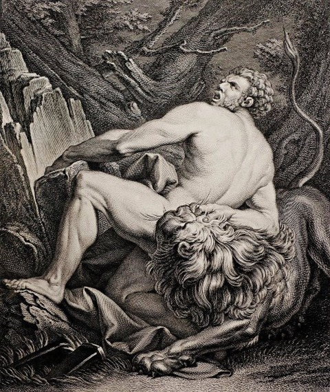 Milo of Croton Charles Michel-Ange Challe 1718