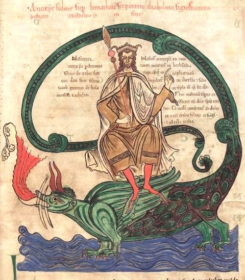 the Antichrist riding Leviathan 12th