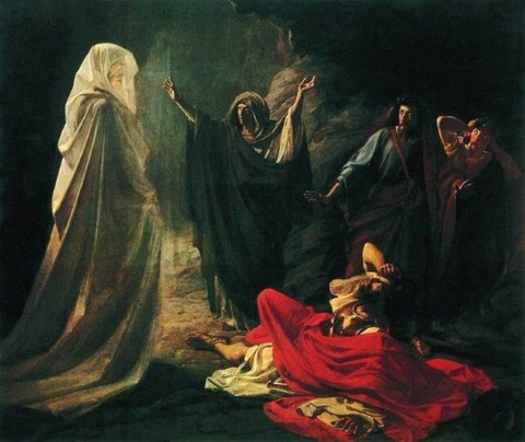 Nikolay Ge Endor Calling Up Spirit Prophet Samuel  1875