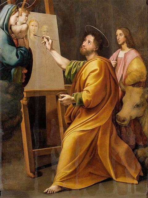 Saint Luke Painting the Madonna. Raphael Santi