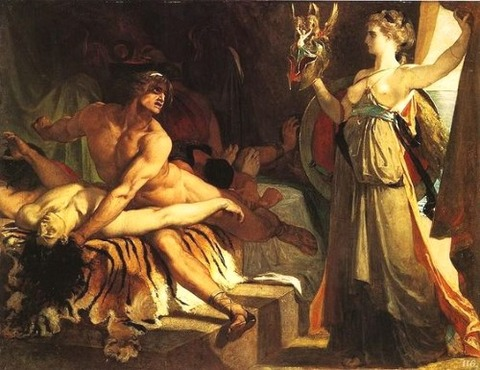 Thetis  arms Vulcan 1866 Alexandre Georges Henri Regnault
