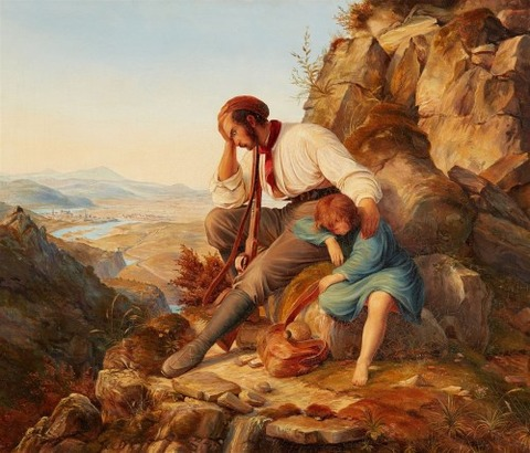 Carl Friedrich Lessing, attributed  Robber and his Child 1808-80