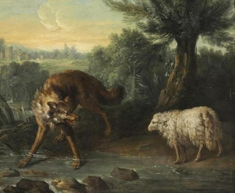 Jean-Baptiste Oudry The Wolf and the Lamb