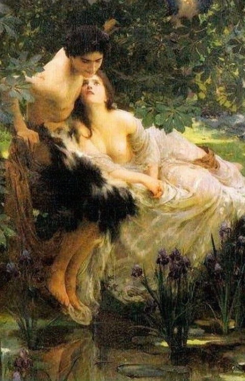 "Narcissus and Echo"", 1895 by Solomon Joseph Solomon"