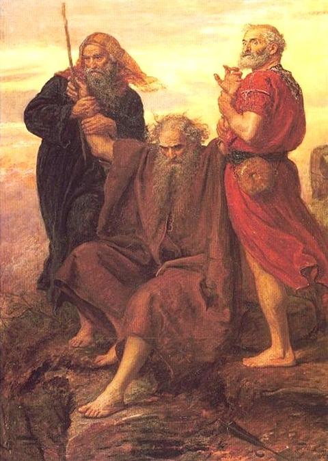 Aaron and Hur  John Everett Millais 19