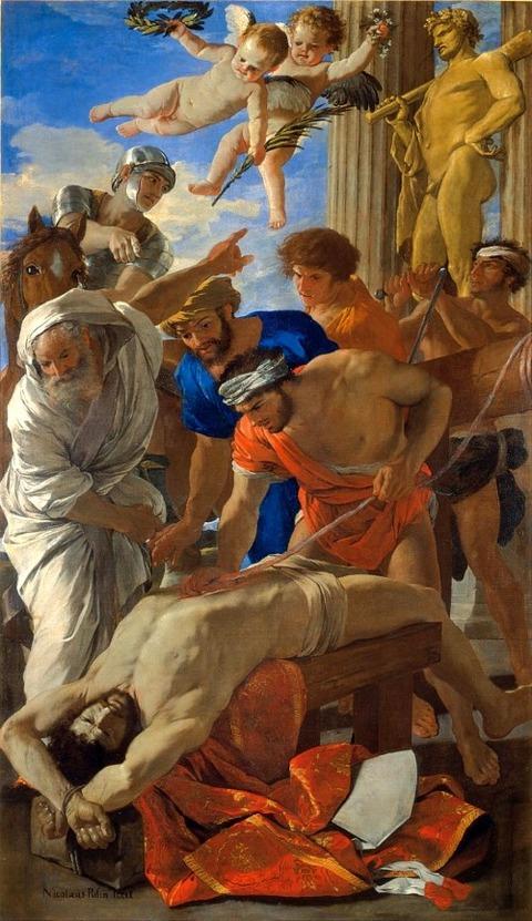 Nicolas Poussin, Martyrdom of St Erasmus 1628-29