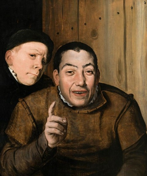 Two Jesters, , Flemish School  1550-75