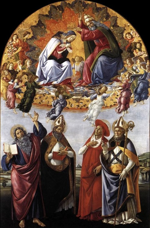 Botticelli, with only God the Father in evidence  1490-92