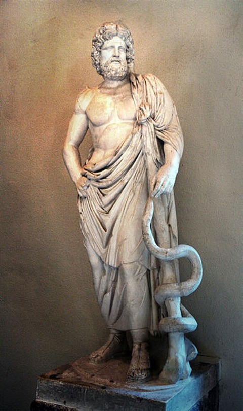 Statue of Asclepius,  Museum of Epidaurus Theatre