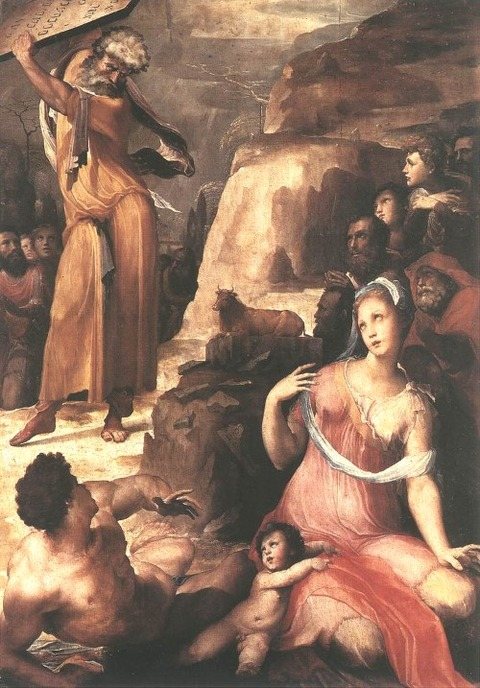 Moses and the Golden Calf BECCAFUMI (1486-1551)