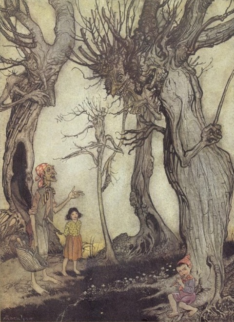 Arthur Rackham (1867-1939) tree and axe