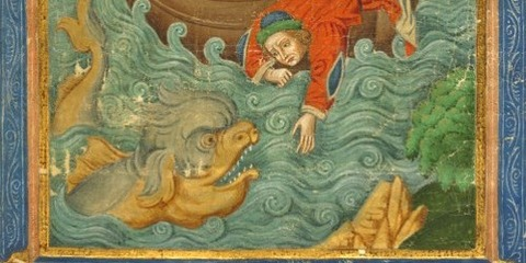 Paris 1900 15th manuscript Jonah and the Whale -