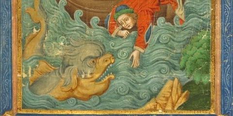 Paris 1900 15th manuscript Jonah and the Whale -