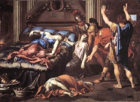 The Death of Cleopatra by Pierre Mignard  1635