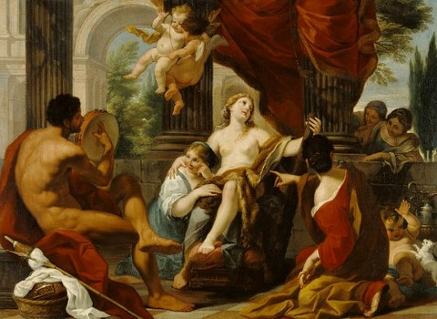 Hercules And Omphale by Luigi Garzi  1700-10