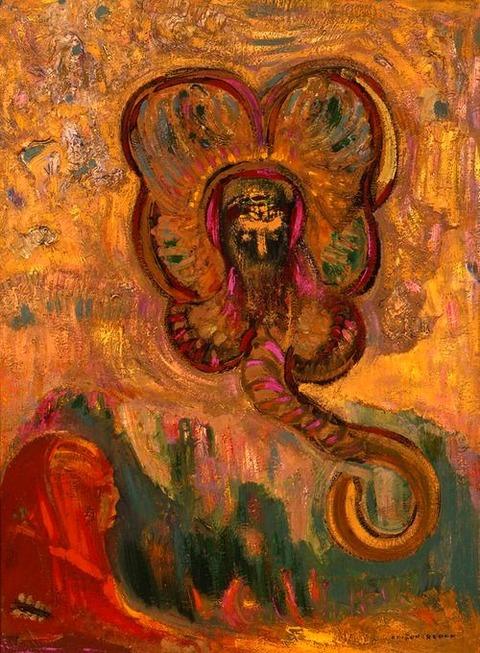 Odilon Redon (French, 1840-1916), Oannes et le Sphinx, 1910